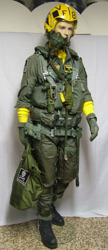 US Navy pilot flight equipment of VF-84 Jolly Rogers used during the  1979-1980. 497ae7b3186