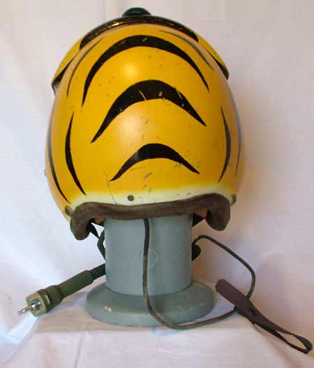 86cc795e03d US Navy APH-5 (early version) flight helmet with MS22001 oxygen mask. VF-32  Swordmen on F8U-1 Crusader (1958)