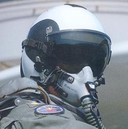 F 18 Helmet US NAVY F-18 pilot wearing a