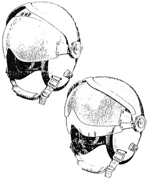 us military aviation flight helmets F -35 Helmet drawing from a gentex datasheet showing both the hgu 83 p and hgu 84 p in their originally intended configuration with fixed visors under visor housing
