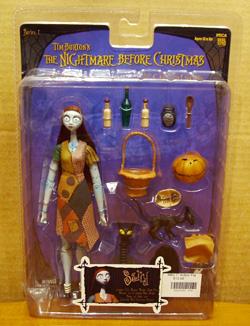 Tim Burton's The Nightmare Before Christmas Sally With Zero Action Figure